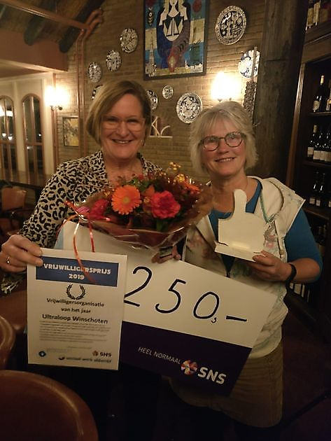 Run winnaar vrijwilligersprijs gemeente Oldambt - RUN Winschoten